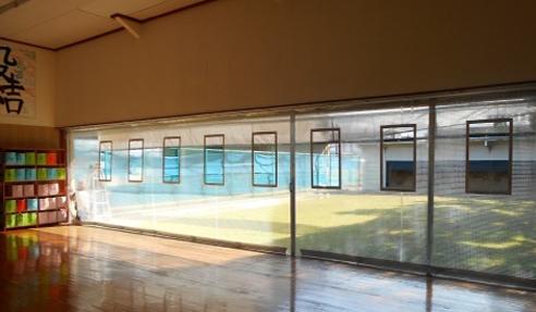 弓道場練習用カーテン