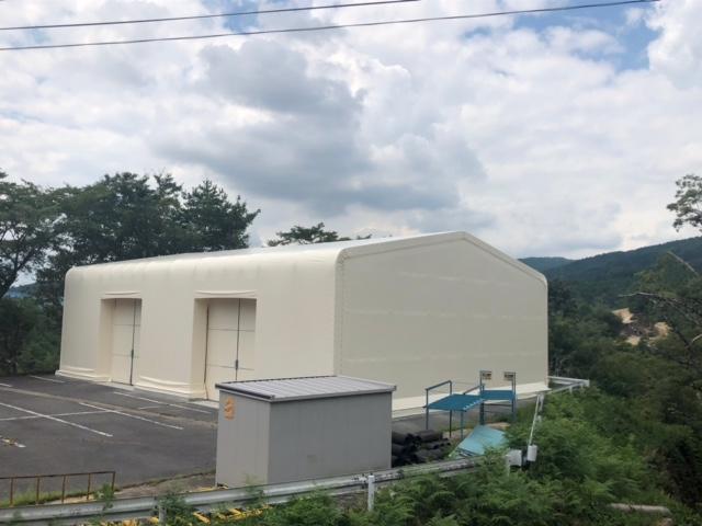 テント倉庫の施工事例の写真