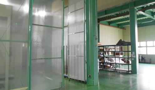 工場や倉庫の間仕切り・カーテンも承ります