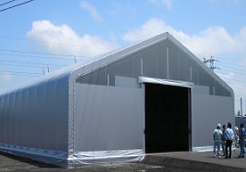 明り取り仕様テント倉庫
