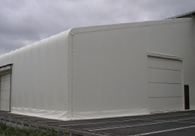片流れ型テント倉庫