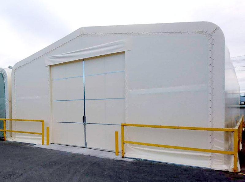 テント倉庫の新設