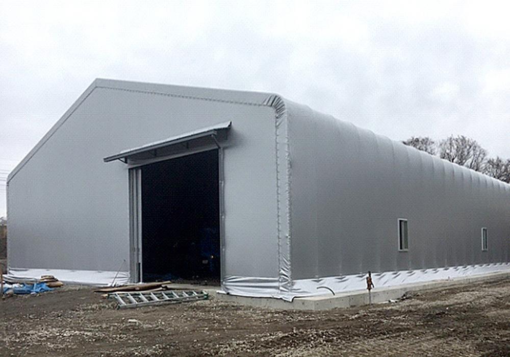 積雪にも耐えられるテント倉庫も作れます!