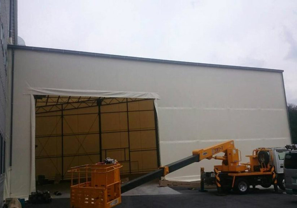 設置する土地に合わせたテント倉庫を作ることができます!