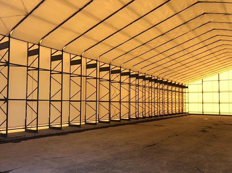 規定サイズのテント倉庫であれば2・3日で施工に入れます!